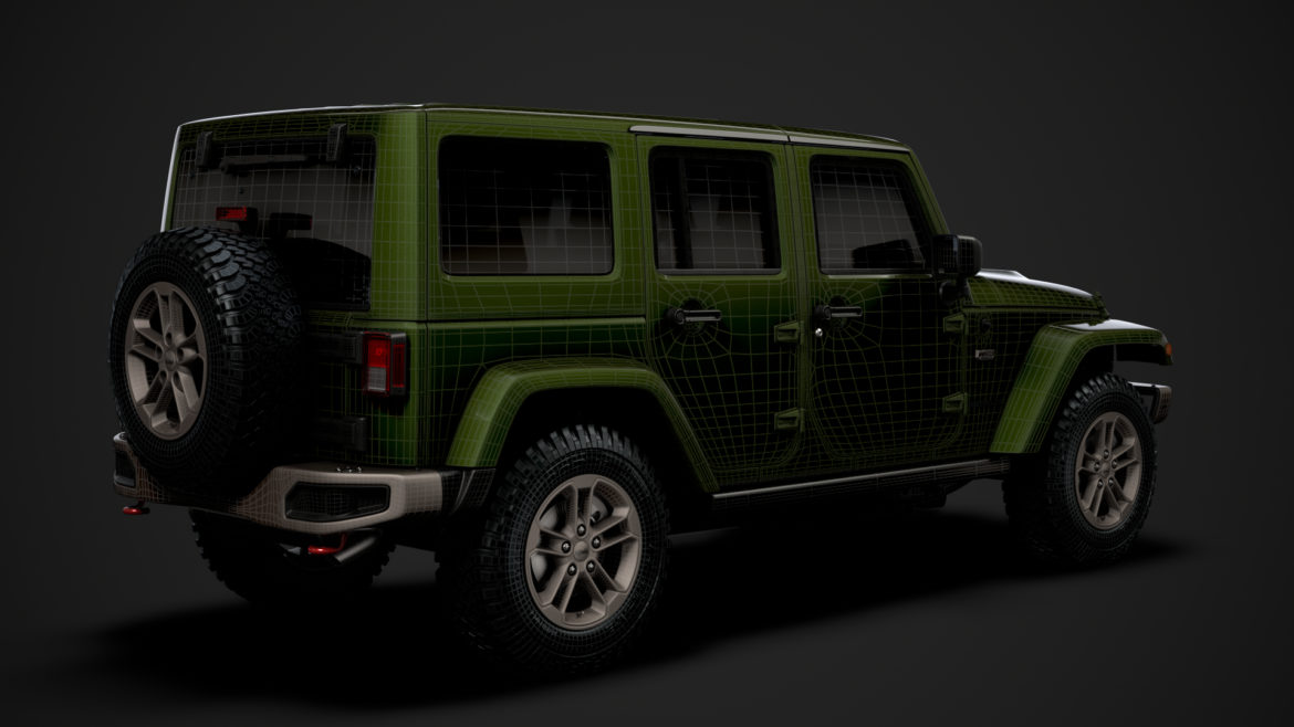 jeep wrangler unlimited 75th anniversary jk 2018 3d model 3ds c4d lwo ma mb 3dm hrc xsi obj 318561