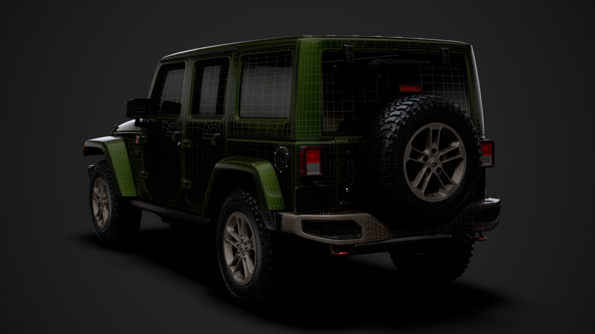 jeep wrangler unlimited 75th anniversary jk 2018 3d model 3ds c4d lwo ma mb 3dm hrc xsi obj 318562