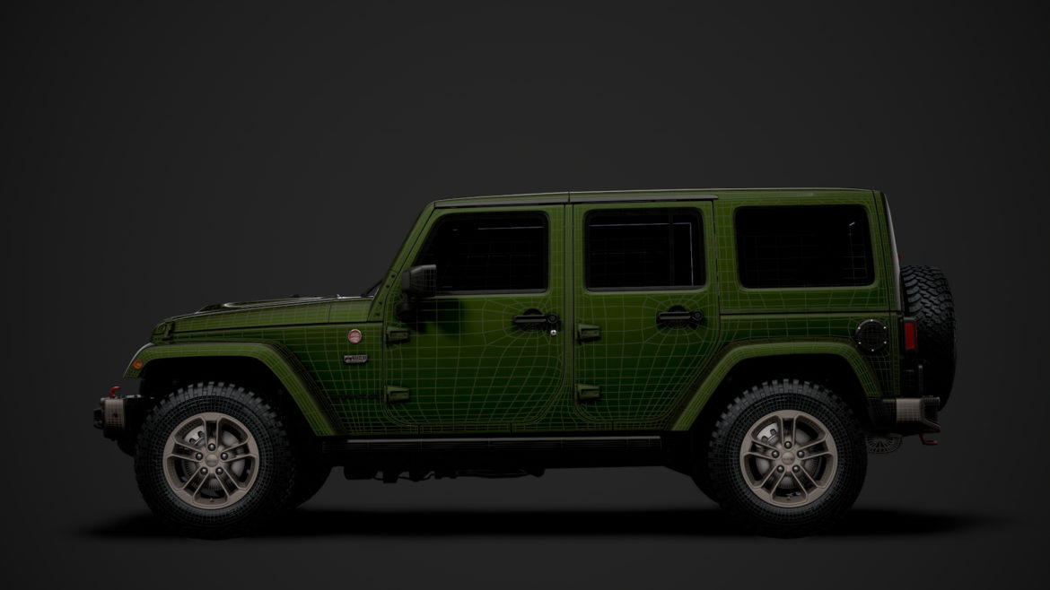 jeep wrangler unlimited 75th anniversary jk 2018 3d model 3ds c4d lwo ma mb 3dm hrc xsi obj 318564