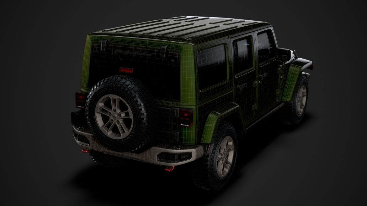 jeep wrangler unlimited 75th anniversary jk 2018 3d model 3ds c4d lwo ma mb 3dm hrc xsi obj 318572