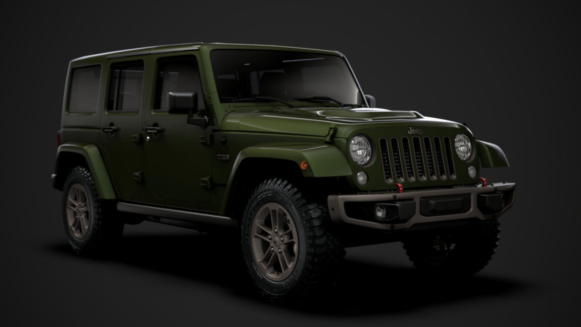 jeep wrangler unlimited 75th anniversary jk 2018 3d model 3ds c4d lwo ma mb 3dm hrc xsi obj 318573