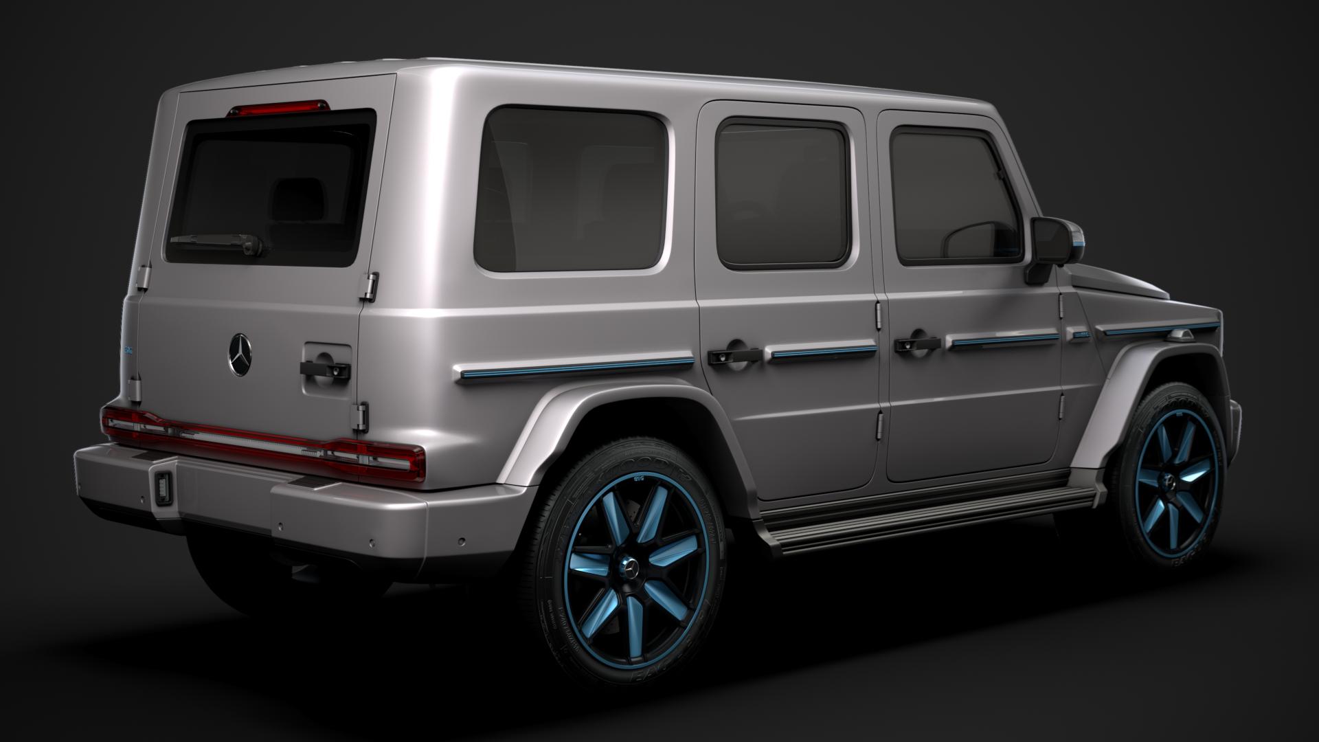 Mercedes Benz EQG 2022 3D Model - FlatPyramid