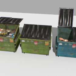 dumpster pack 3d model fbx obj 319251