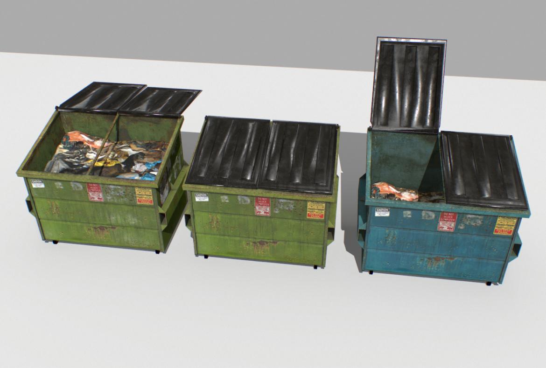dumpster pack 3d model fbx obj 319252