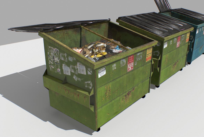 dumpster pack 3d model fbx obj 319253