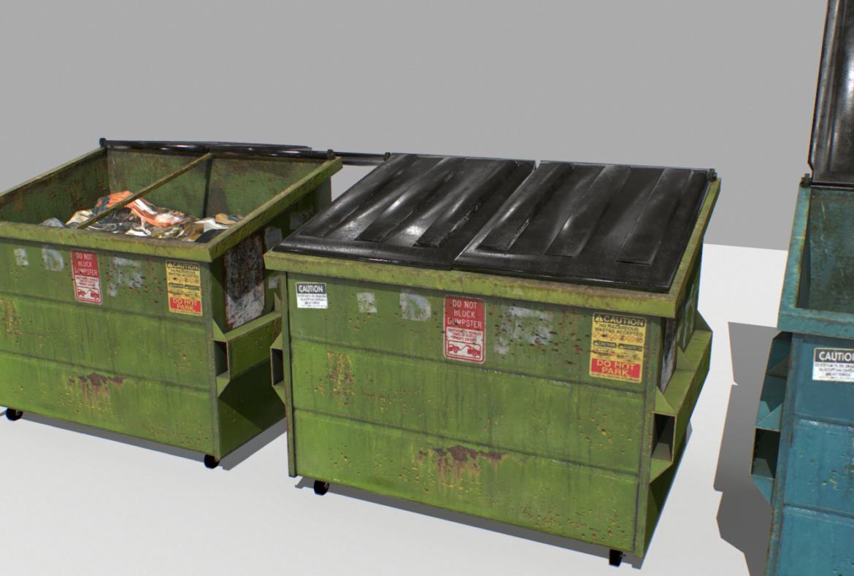 dumpster pack 3d model fbx obj 319255