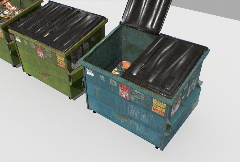 dumpster pack 3d model fbx obj 319256