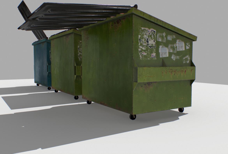 dumpster pack 3d model fbx obj 319257