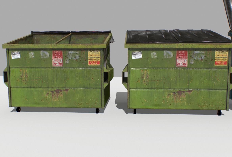 dumpster pack 3d model fbx obj 319260