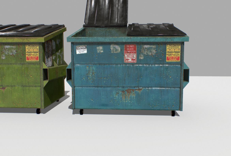 dumpster pack 3d model fbx obj 319261