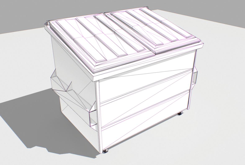 dumpster pack 3d model fbx obj 319263