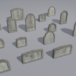 gravestones pack 1 3d model fbx obj 319328