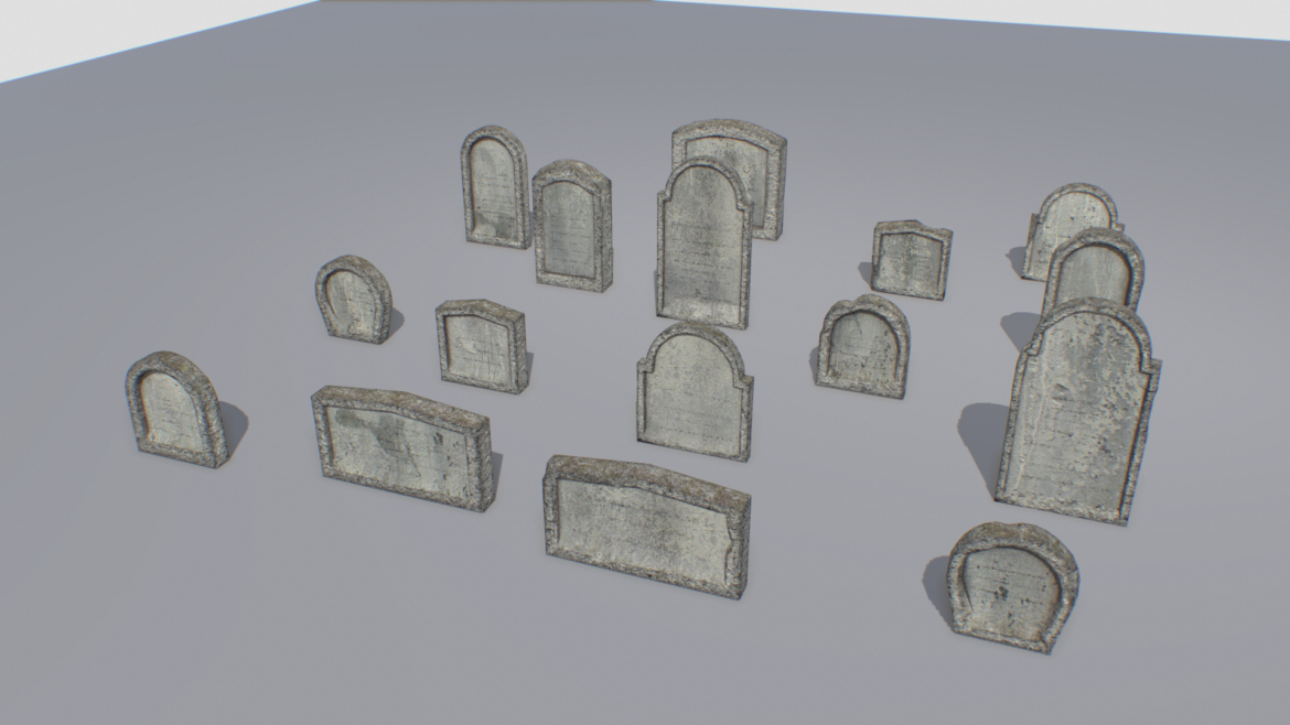 gravestones pack 1 3d model fbx obj 319329