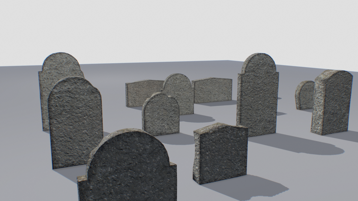 gravestones pack 1 3d model fbx obj 319330