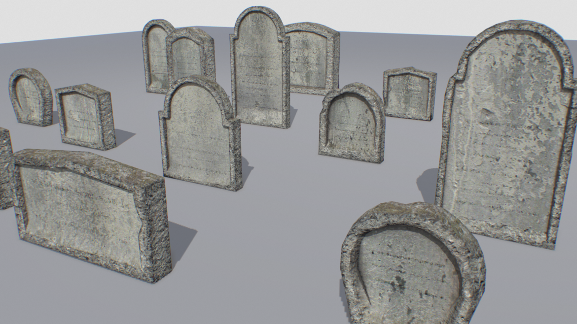 gravestones pack 1 3d model fbx obj 319331