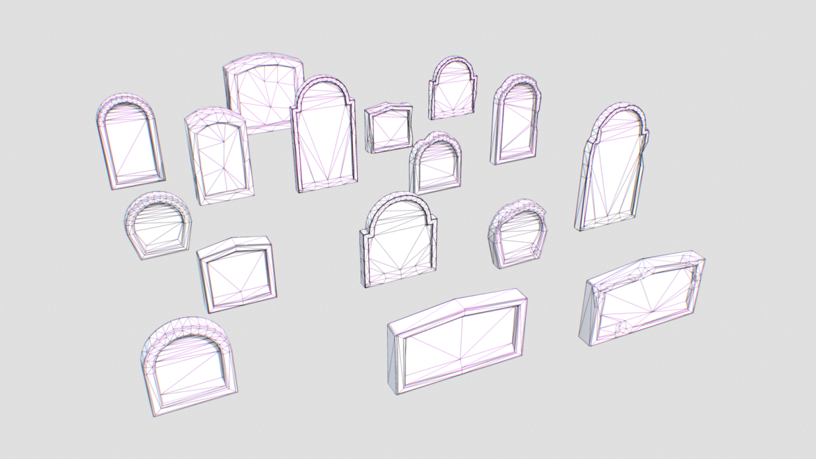 gravestones pack 1 3d model fbx obj 319332