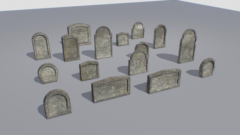 gravestones pack 2 3d model fbx obj 319335
