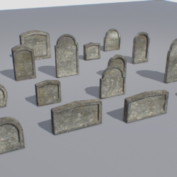 gravestones pack 2 3d model fbx obj 319335