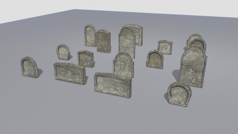 gravestones pack 2 3d model fbx obj 319336