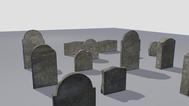 gravestones pack 2 3d model fbx obj 319337