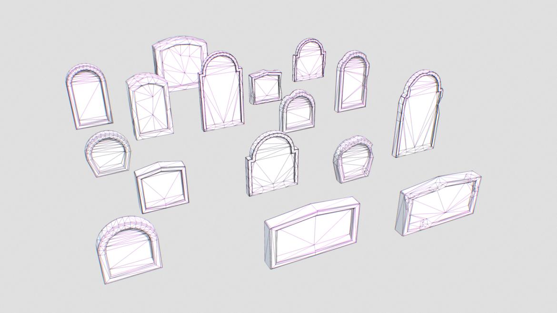 gravestones pack 2 3d model fbx obj 319338