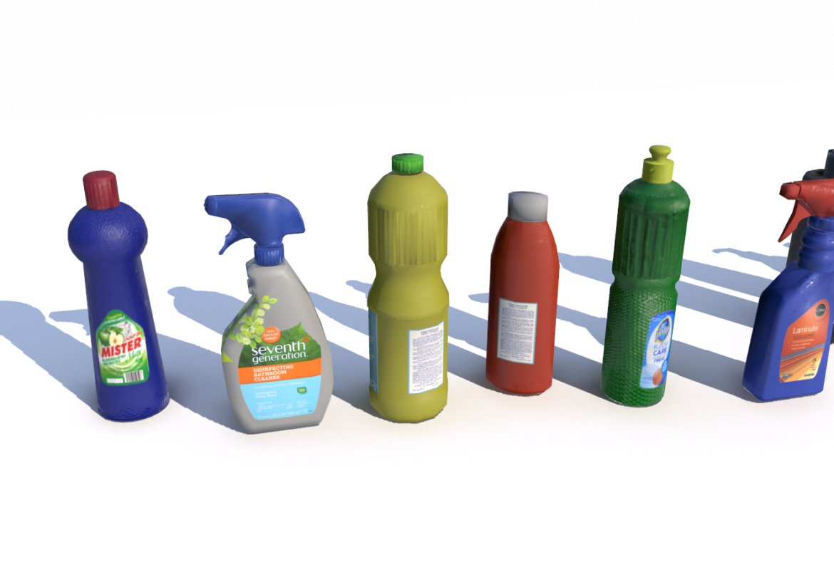 cleaning products pbr 3d model fbx obj 319344