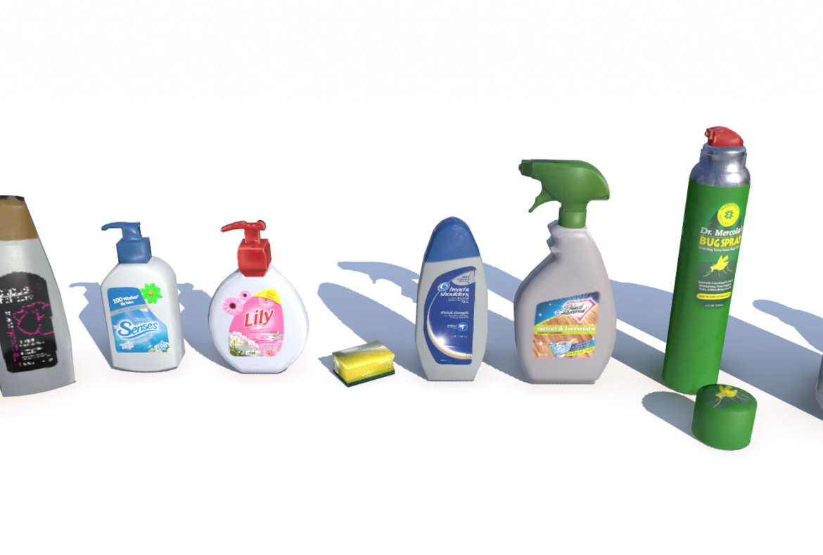 cleaning products pbr 3d model fbx obj 319346