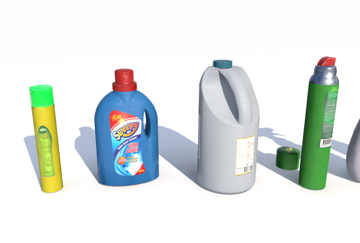 cleaning products pbr 3d model fbx obj 319348