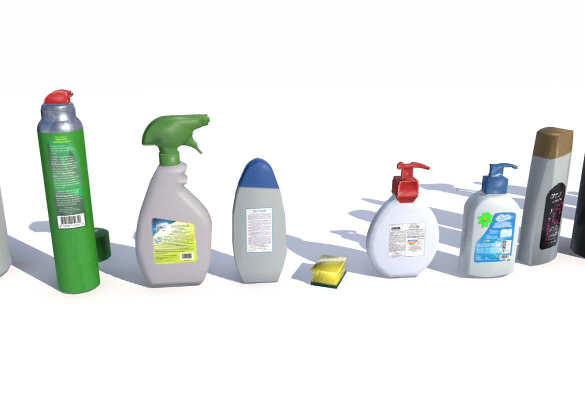 cleaning products pbr 3d model fbx obj 319349