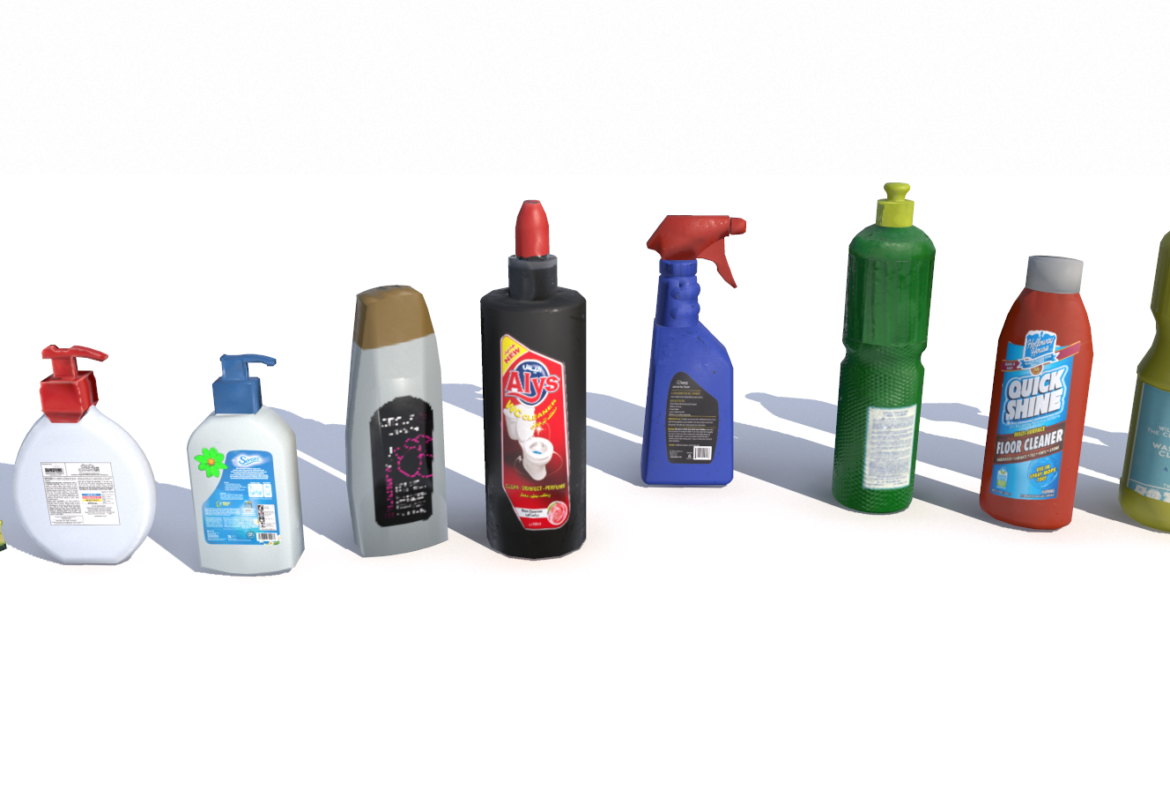 cleaning products pbr 3d model fbx obj 319350