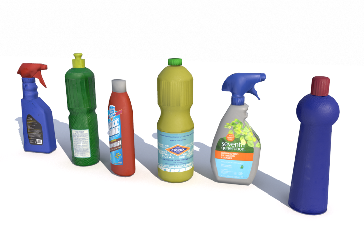 cleaning products pbr 3d model fbx obj 319351