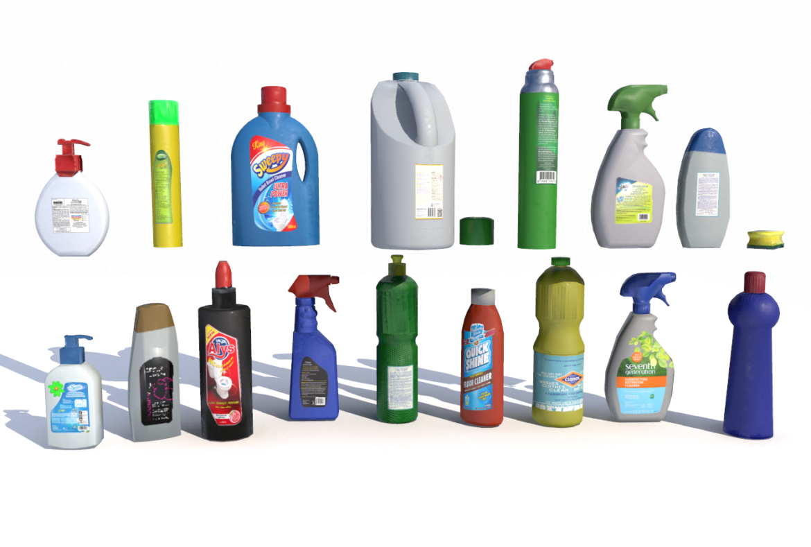 cleaning products pbr 3d model fbx obj 319353