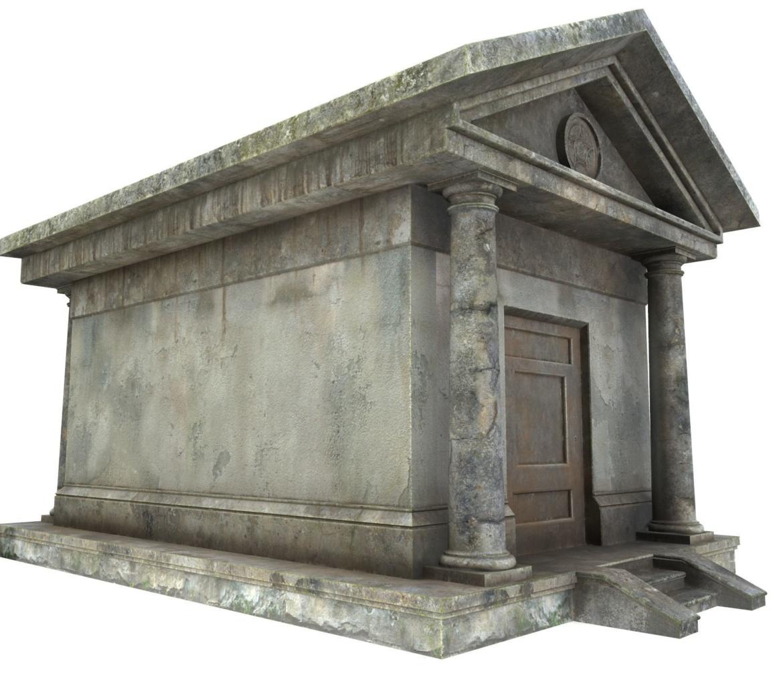 mausoleum pbr 3d model fbx obj 319361