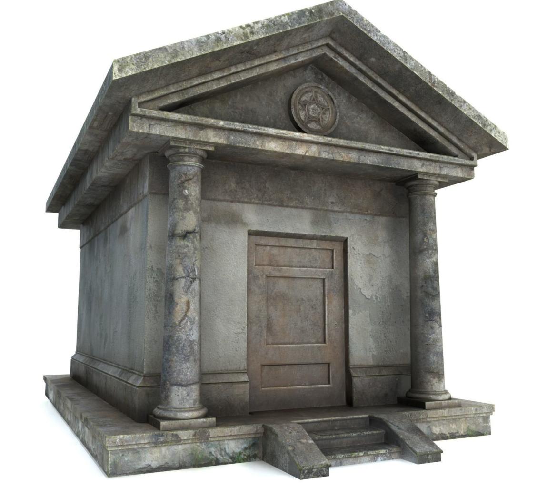 mausoleum pbr 3d model fbx obj 319362
