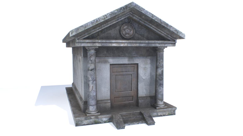 mausoleum pbr 3d model fbx obj 319363