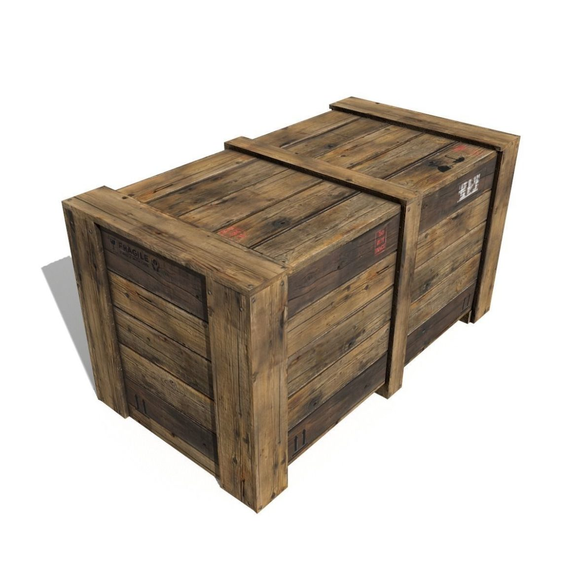 transport crates pack 3 3d model fbx obj 319435