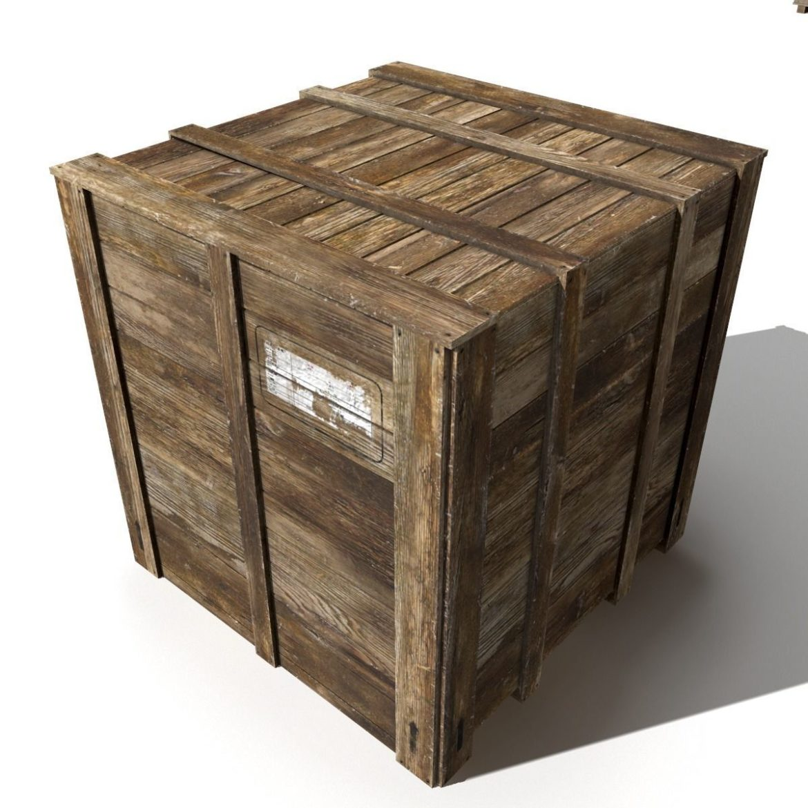 transport crates pack 3 3d model fbx obj 319443