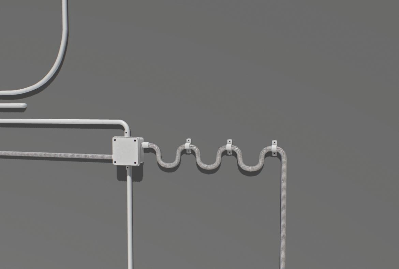 electric wall wires set 3d model fbx obj 319476