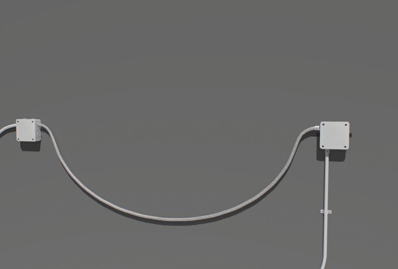 electric wall wires set 3d model fbx obj 319477
