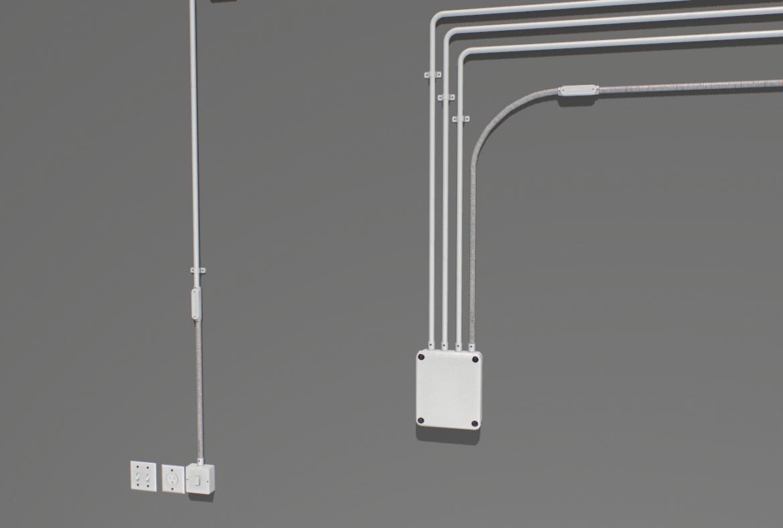 electric wall wires set 3d model fbx obj 319478