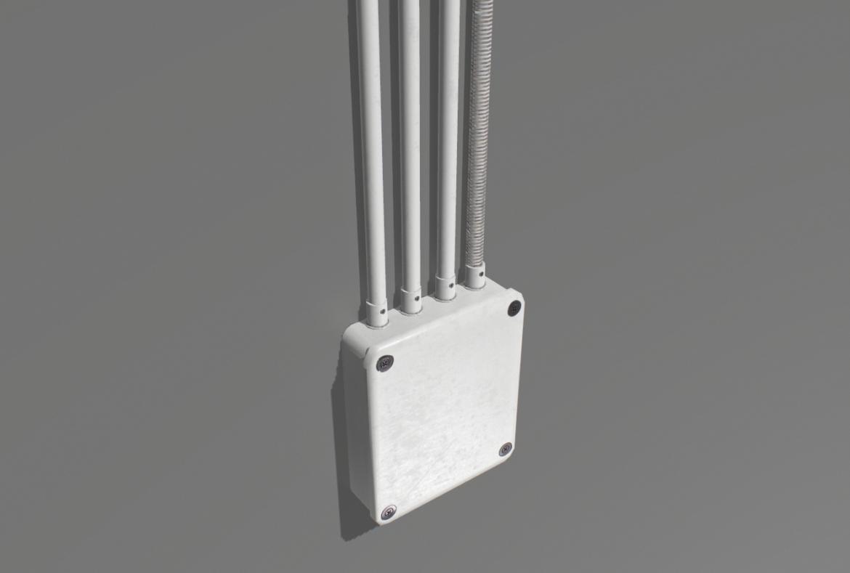 electric wall wires set 3d model fbx obj 319479