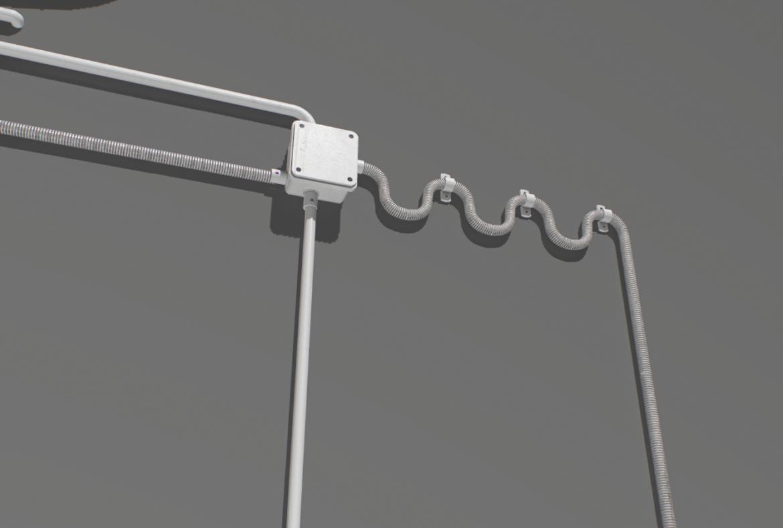 electric wall wires set 3d model fbx obj 319481