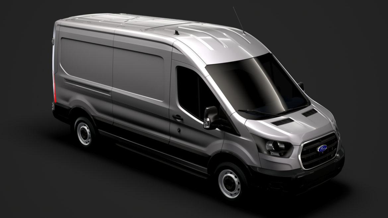ford transit van 350 l3h2 leader 2020 3d model 3ds max fbx c4d lwo ma mb 3dm hrc xsi obj 319879