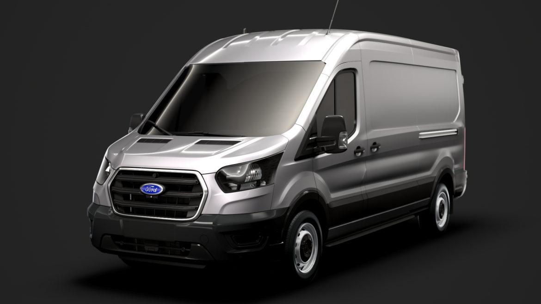 ford transit van 350 l3h2 leader 2020 3d model 3ds max fbx c4d lwo ma mb 3dm hrc xsi obj 319889