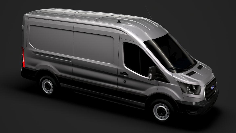 ford transit van 350 l3h2 leader 2020 3d model 3ds max fbx c4d lwo ma mb 3dm hrc xsi obj 319893