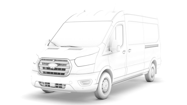 ford transit van 350 l3h2 leader 2020 3d model 3ds max fbx c4d lwo ma mb 3dm hrc xsi obj 319903