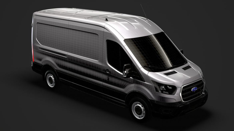 ford transit van 350 l3h2 leader 2020 3d model 3ds max fbx c4d lwo ma mb 3dm hrc xsi obj 319911