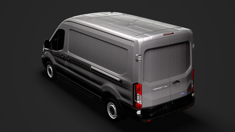 ford transit van 350 l3h2 leader 2020 3d model 3ds max fbx c4d lwo ma mb 3dm hrc xsi obj 319914