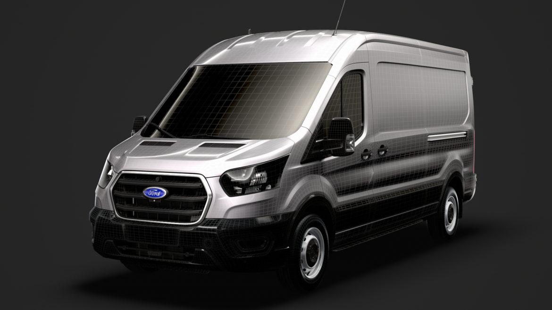 ford transit van 350 l3h2 leader 2020 3d model 3ds max fbx c4d lwo ma mb 3dm hrc xsi obj 319919