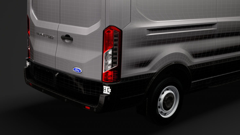 ford transit van 350 l3h2 leader 2020 3d model 3ds max fbx c4d lwo ma mb 3dm hrc xsi obj 319921